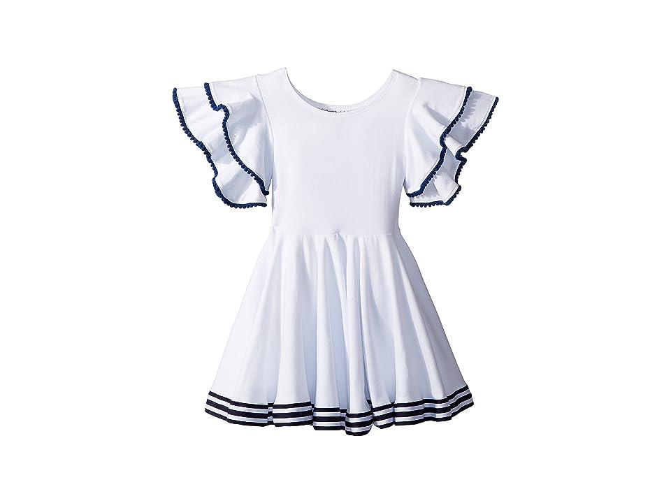 fiveloaves twofish Amelia Sail Away Dress (Toddler/Little Kids) (White) Girl