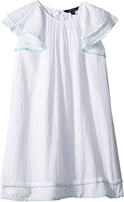 Polo Ralph Lauren Kids Cotton Flutter-Sleeve Dress (Big Kids)
