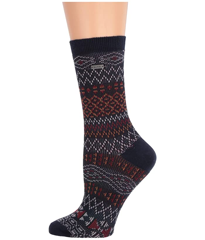 UPC 023616485566 product image for SOREL Cotton Jacquard Pattern Crew (Navy) Women's Crew Cut Socks Shoes | upcitemdb.com