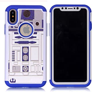Iphone X Case,Iphone X Cover - R2D2 Astromech Droid Robot Pattern Shock-Absorption Hard PC and Inner Silicone Hybrid Dual Layer Armor Defender Protective Case Cover for Apple iphone X (2017 release)