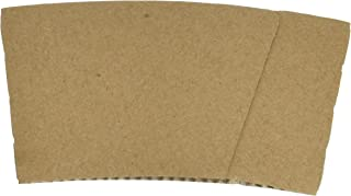 Hot Cup Sleeves (Cup Jackets) for 8oz Paper Coffee Cups, 50 Count Coffee Cup Holder Sleeves Traditional Jackets (Natural Kraft/Brown)