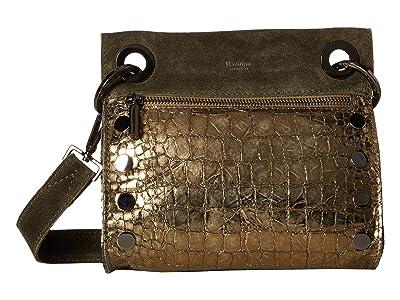 Hammitt Tony Small (Eucalyptus Suede/Eucalyptus Nilo/Gunmetal) Cross Body Handbags