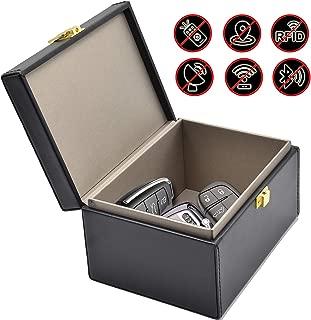 Faraday Box Todoxi Car Key Fob Protector RFID Box for Keys Large PU Leather RFID Signal Blocking Car Security Proection Box…