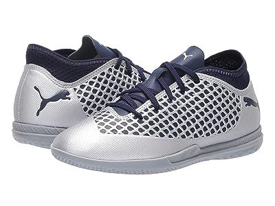 Puma Kids Future 2.4 IT Soccer (Little Kid/Big Kid) (Puma Silver/Peacoat) Kids Shoes