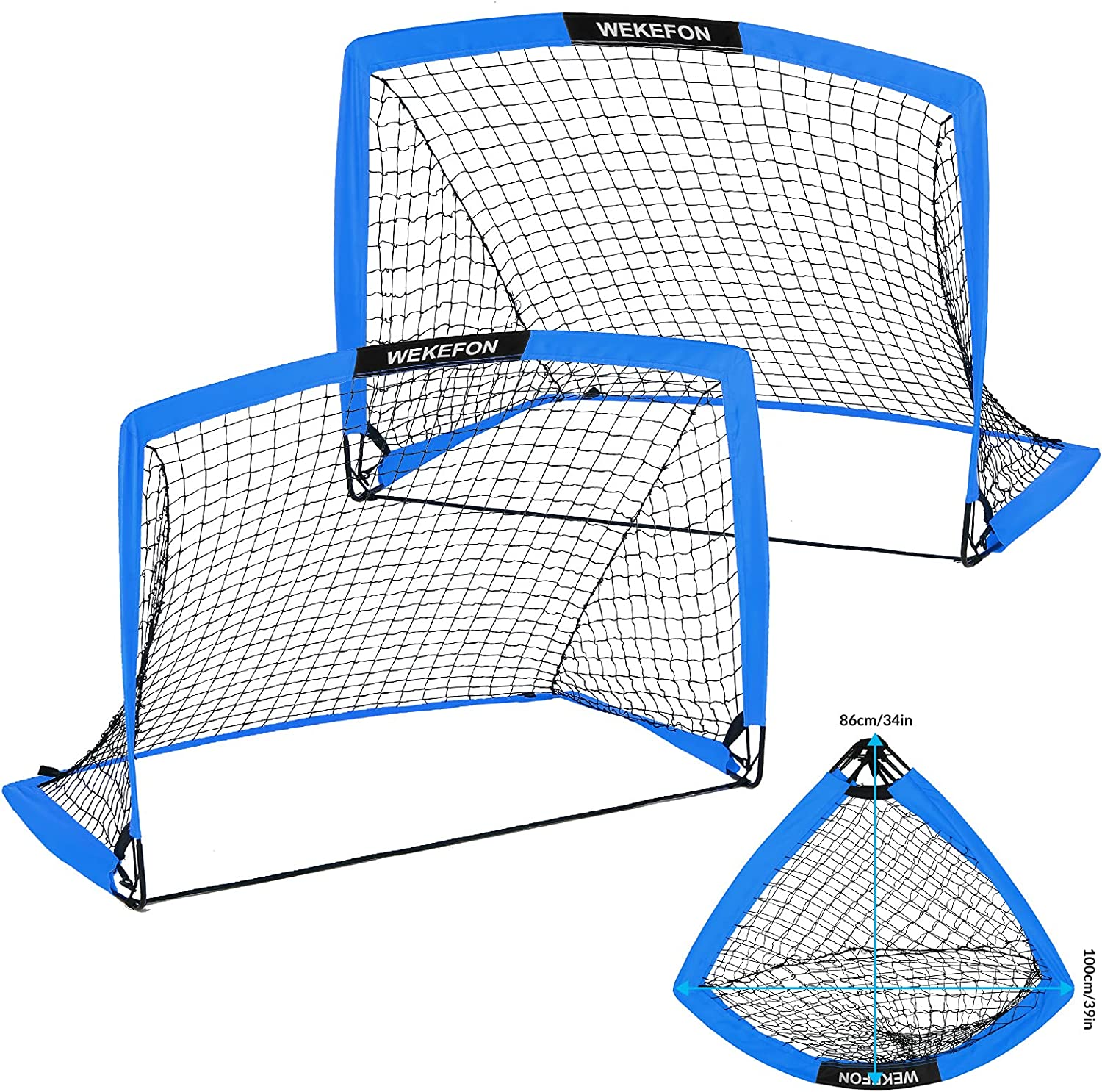WEKEFON Soccer Goals Pop-Up Folding Carry fo Superior Quality inspection Net Bag with