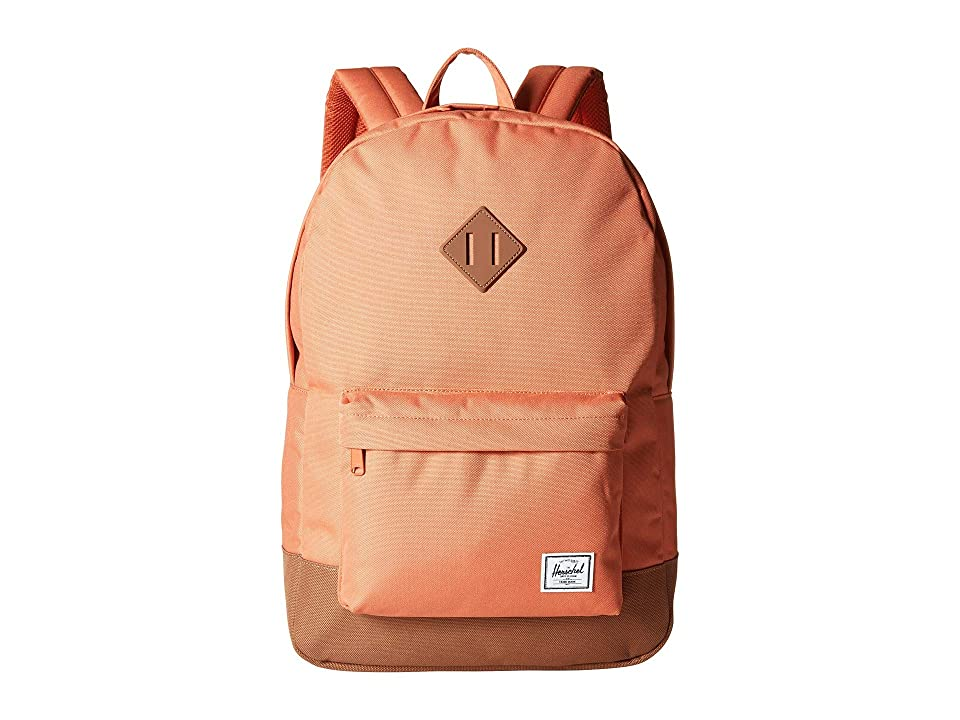 Herschel Supply Co. Heritage (Apricot Brandy/Saddle Brown) Backpack Bags