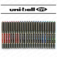 Uni-Ball Eye Fine UB-157 Rollerball Coloured Pens Assorted Colours Pack of 24 Limited Edition
