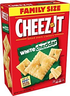 Cheez-It White Cheddar Cheese Crackers - School Lunch Food, Baked Snack, Bulk Size 21 oz Box (Pack of 3)