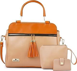 Speed X Fashion Women Hand Held Bag Cream Combo
