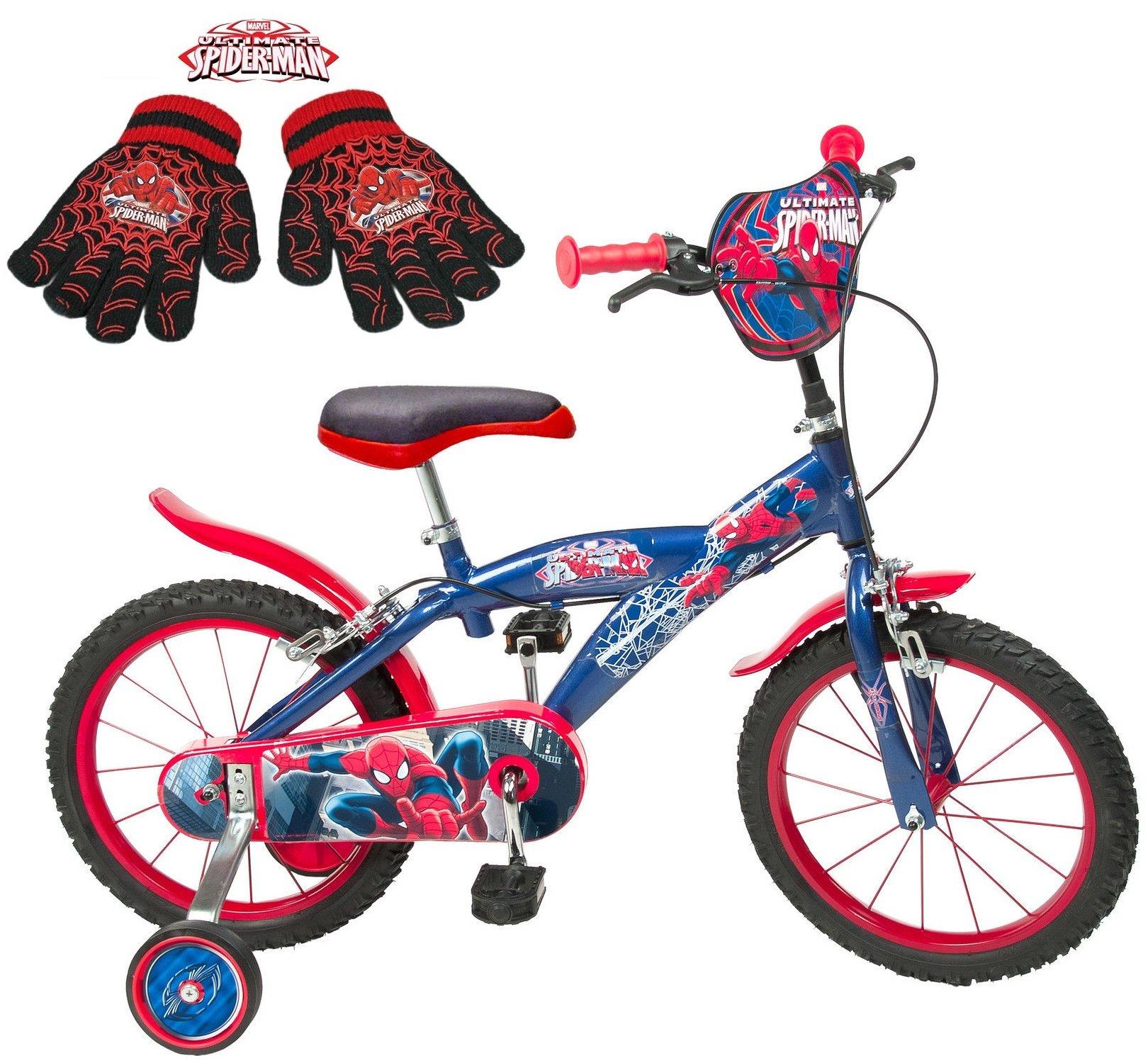 Ultimate Spider-Man bicicleta infantil 12 14 40.64 cm rojo azul ...