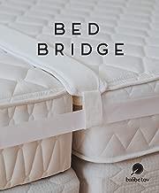 BALIBETOV Kit convertidor de Cama Twin a King - Relleno de separación de Camas - Conector de colchón para Invitados, estadías y reuniones Familiares (Blanco Natural)