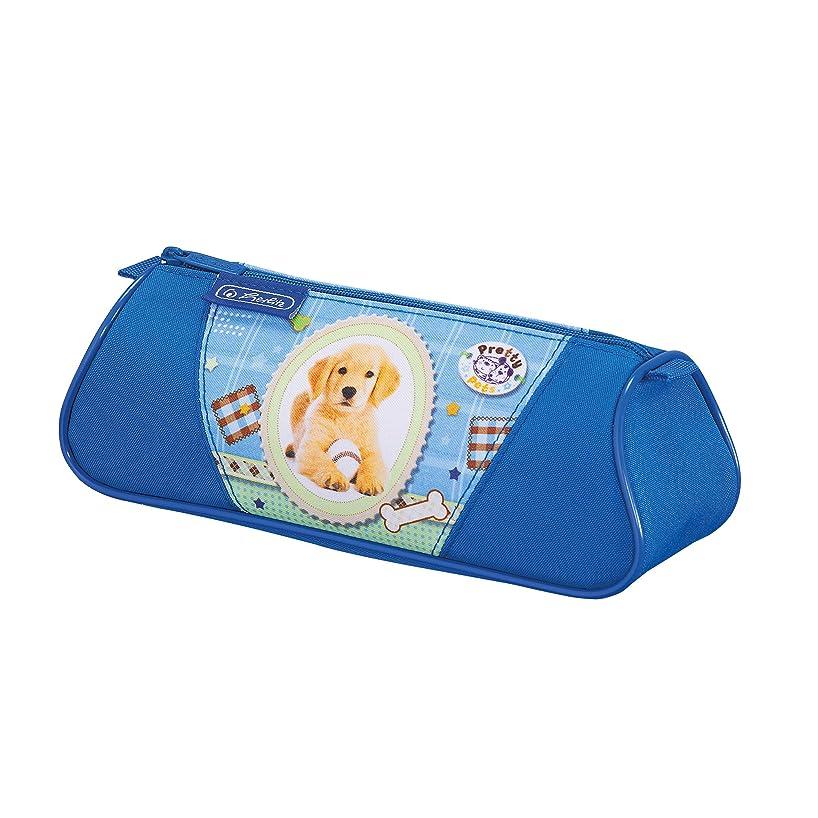 herlitz 50008612?Triangular Pencil Case, 1?Zip Pocket, Butterfly Design, Pack of 1, Pretty Pets Hund'14 (multicolour) - 11075355