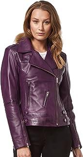/'ROSE/' Ladies OLIVE GREEN Motorcycle Biker Style ROCK Leather Jacket 5816