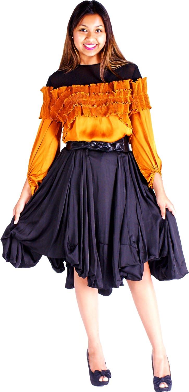 Raggs on the Boulevard Satin Skirt Set