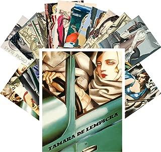 Postcard Set 24pcs Tamara De Lempicka and Jean Dupas Vintage Painting Cubism