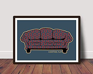 PHISH Inspired Couch Tour Poster Print | 11x14 | Concert Poster | Phan Art