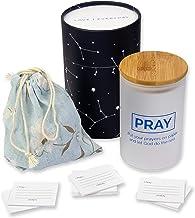 PRAYER BOX Christian Gift Prayer Jar with Note Cards for Religious Practice, Hope, Faith & Positivity, Memory/Blessings Ja...