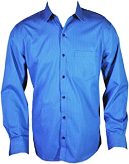Spanish One Look Men 100% Cotton Casual Cotton Shirt in Blue Printed