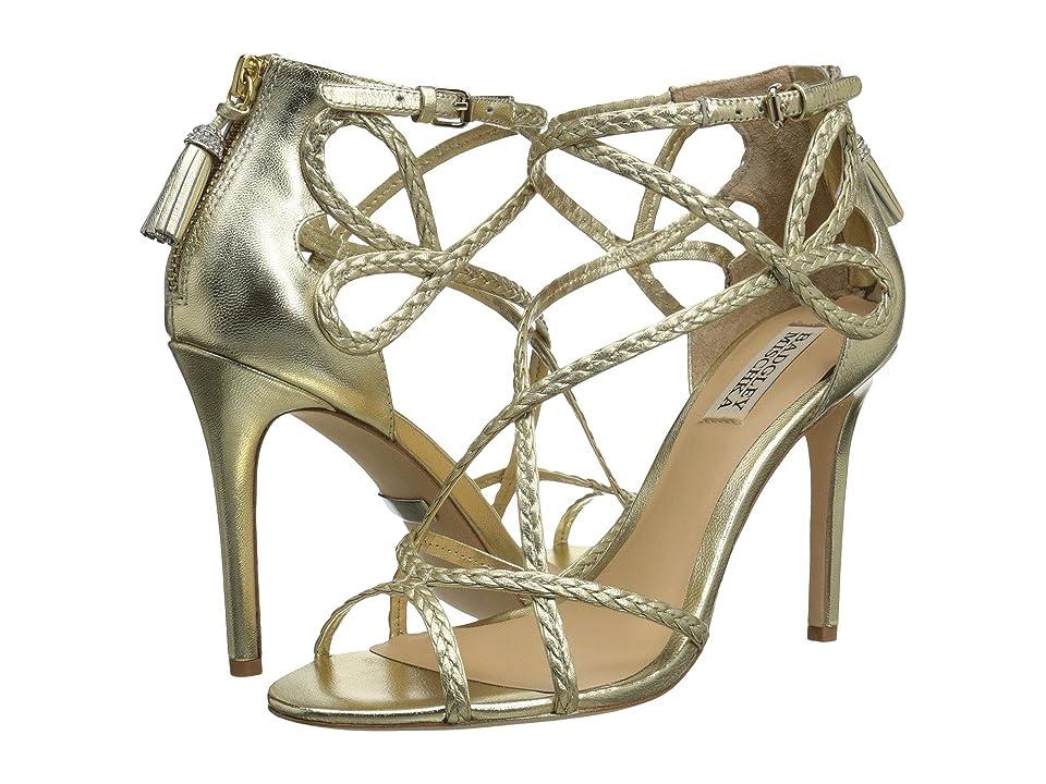 Badgley Mischka Crystal (Platino Metallic Leather) Women