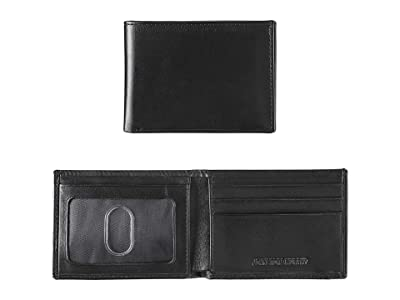 Johnston & Murphy Super Slim Wallet (Black Full Grain) Bill-fold Wallet