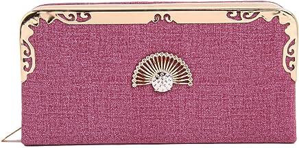 Fiona Trends Women's Purple Faux Leather Clutch(FT14-purple)