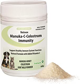 Vetnex Manuka-C-Colostrum Immunity Powder for Dogs & Cats 100g