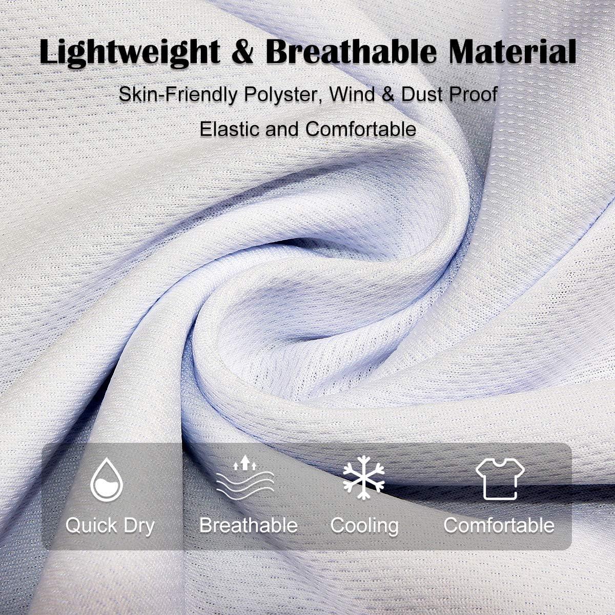 CALODY 3 Pcs Breathable Cooling Bandana UV Protection Neck Gaiter Face Mask, Reusable Face Cover Scarf for Men&Women
