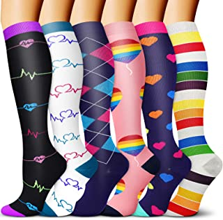 CHARMKING Compression Socks 15-20 mmHg Circulation is Best Graduated Athletic & Daily for Men & Women Running, Travel