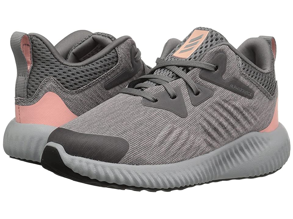 adidas Kids Alphabounce Beyond (Toddler) (Grey/Magenta) Girls Shoes
