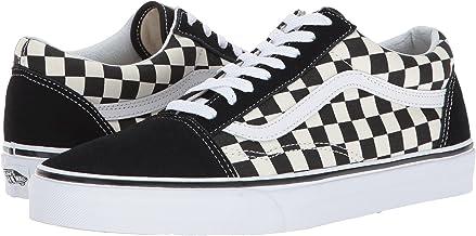 low top black checkered vans
