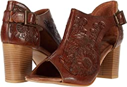 Tan Floral Tooled Leather