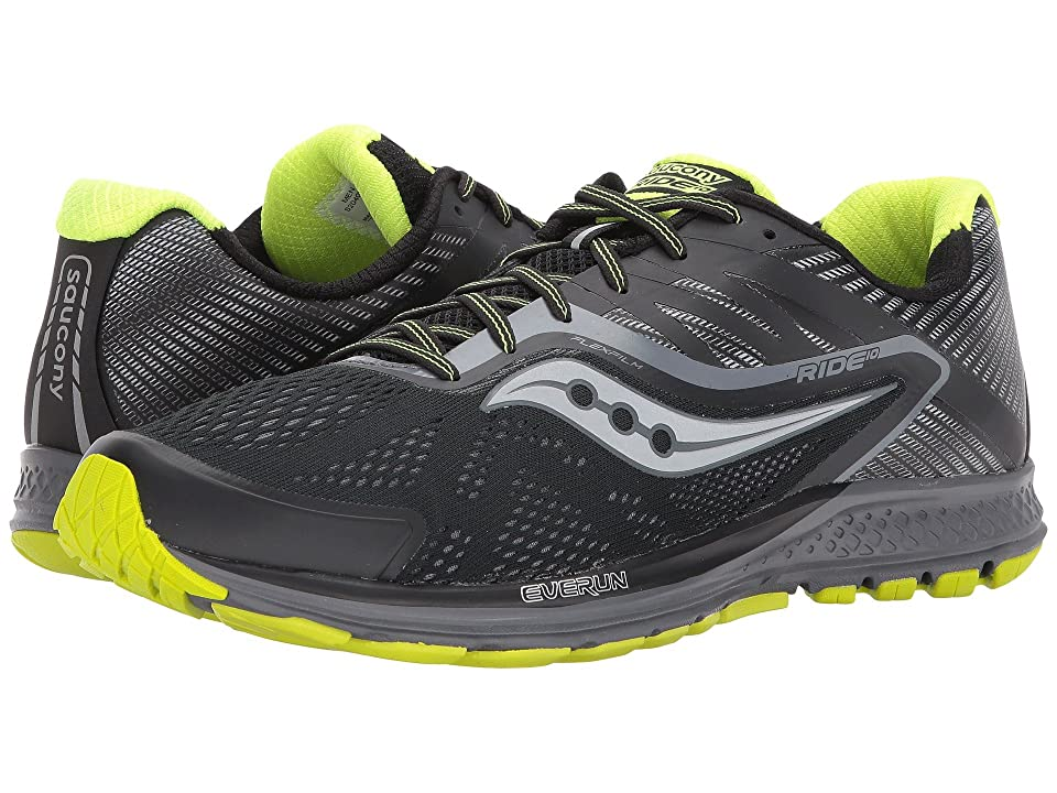 Saucony Ride 10 (Black/Citron) Men