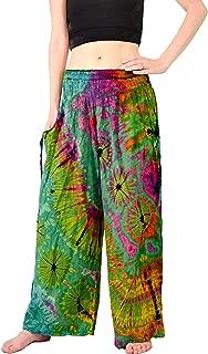 Women's Cold Dyed Wide Leg Palazzo Yoga Tie Dye Pants