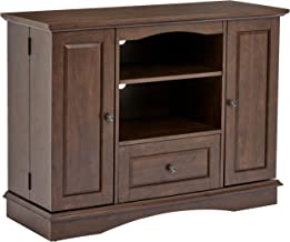 Rockpoint Milano 42-Inch Highboy-Style Wood TV Stand Console, Walnut Brown