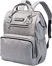 SoHo WideOpen Diaper Backpack Tote 5Pc, Light Gray
