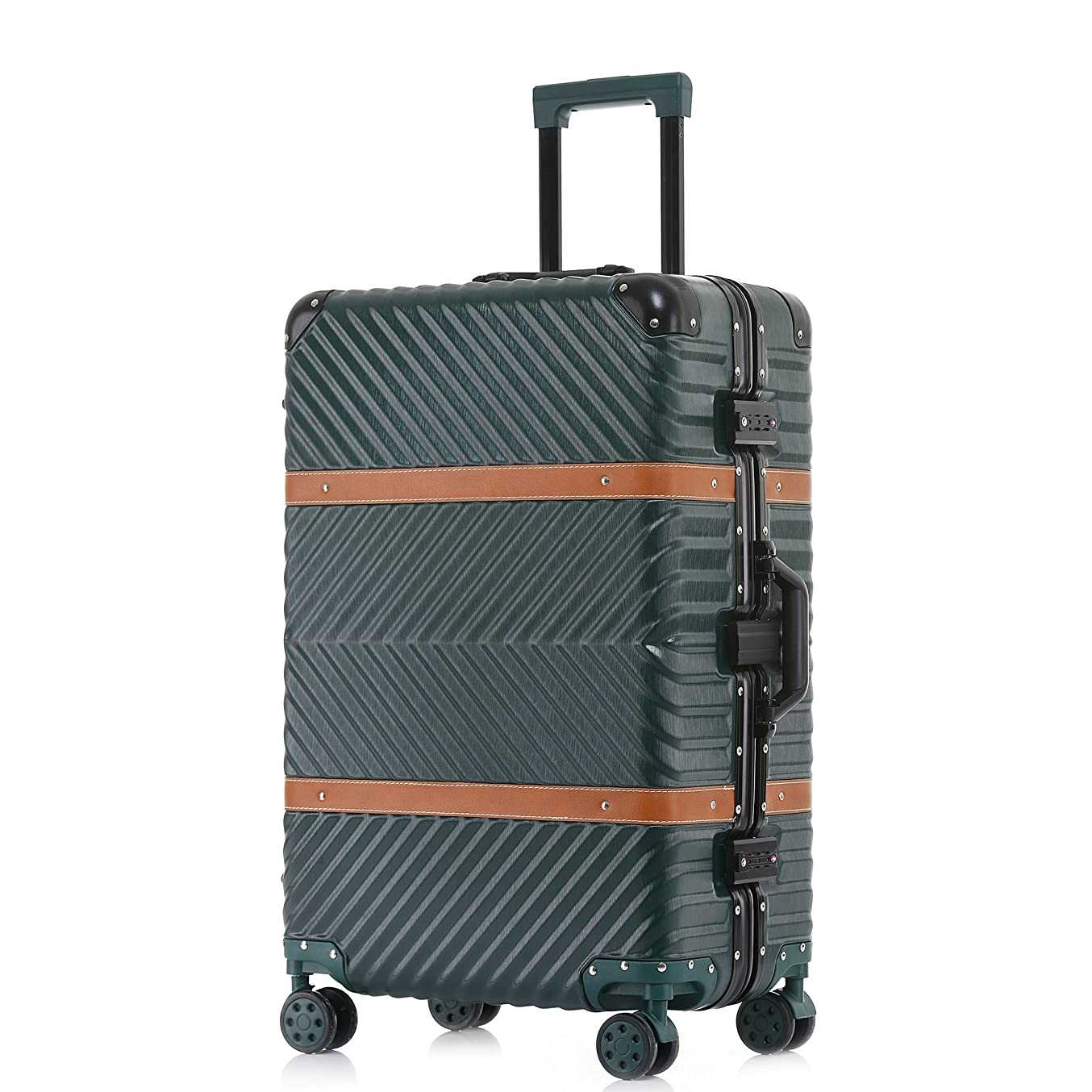 TABITORA(タビトラ) スーツケース 大型 8輪 TSAロック キャスター交換可能 ストッパー 出張 軽量 大容量 静音 旅行用品 アルミフレーム