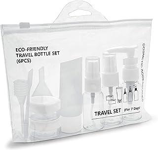 MyGadget Bouteilles de Voyage - Set Vide de Flacons en Plastique pour Avion Bagage Cabine - Rechargeables avec Maquillage...