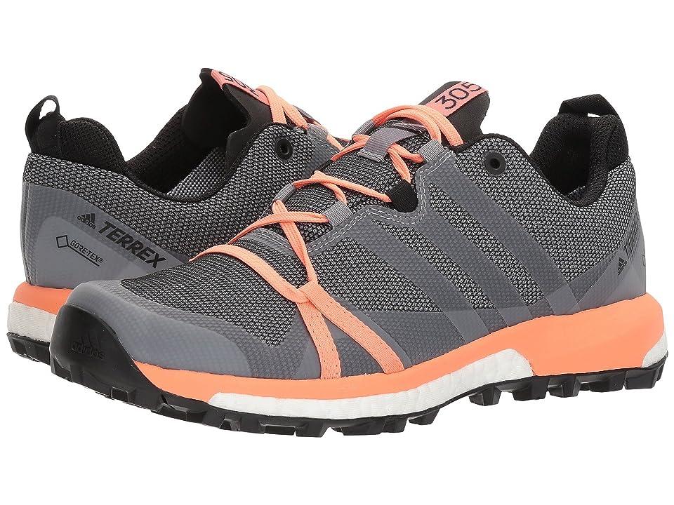 adidas Outdoor Terrex Agravic GTX(r) (Grey Three/White/Chalk Coral) Women
