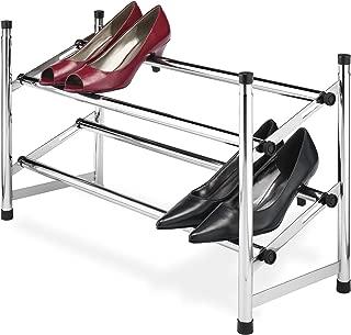 Whitmor Adjustable Chrome Shoe Rack, 2 Tier,