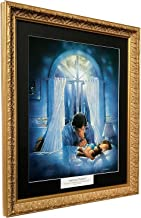 Ron DiCianni SPIRITUAL WARFARE Framed CHRISTIAN ART Prayer Inspirational ANTIQUE GOLD FRAME - Black Mat
