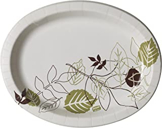 Dixie UltraHeavy-Weight Oval Paper Platter by GP PRO (Georgia-Pacfic), Pathways, SX11PLPATH, 11