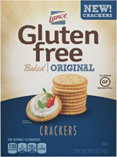 Lance Gluten Free Baked Crackers, Original, 5 Ounce (Pack of 4)