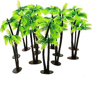 Buorsa 12Pcs Palms Tree Mini Green Scenery Landscape Model Green Coconut