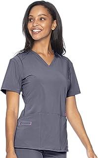 Smitten womens Women's V-neck Scrub Top Medical Scrubs Shirt (pack of 1)