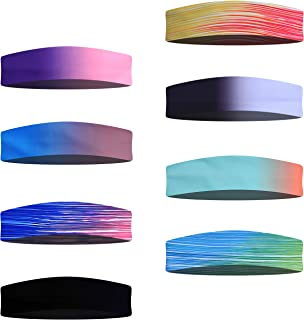 ETCBUYS Stretchable Head Bands - Perfect Men Women for Yoga Exercise, Running, Cycling, Swimming, Sports Non Slip Elastic ...