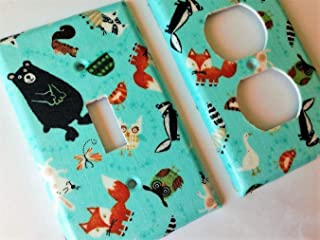 Fox Woodland Animals Light Switch Plate Cover Various Sizes Offered