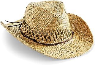 (ビーチフィールド) Beechfield ユニセックス カウボーイスタイル ストローハット ウエスタンハット 麦わら帽子 夏