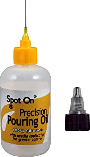 Spot On Acrylic Pouring Oil -100% Pure Silicone with Two (2) caps to Meet Your Artistic Needs for Superior Cell Creation - 4 Ounces