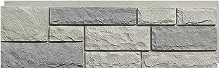 NextStone Faux Polyurethane Stone Siding - Random Rock Tri Gray (4 Panels Per Box)(19 Sq.Ft. Per Box)