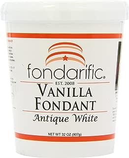 Fondarific Vanilla Fondant Antique White, 2-Pounds